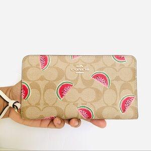 Coach Large Phone Wallet Watermelon Print